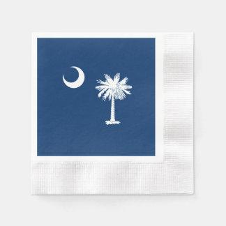 Decoración de la bandera del estado de Carolina Servilleta De Papel