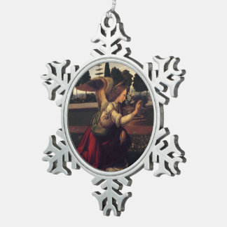 Decoración de la bendición del ángel del navidad adorno de peltre en forma de copo de nieve