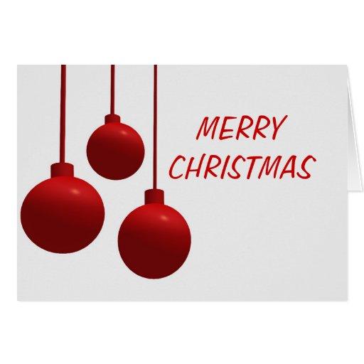 decoración de la bola del navidad tarjetas