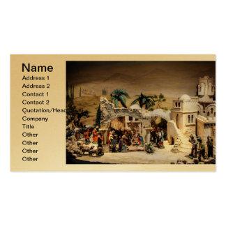 Decoración de la escena de la natividad para el tarjetas de visita