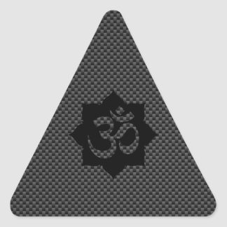 Decoración de la fibra de carbono de la pegatina triangular