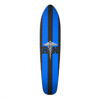 Decoración de la fibra de carbono del caduceo del skate board
