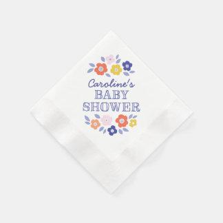 Decoración de la fiesta de bienvenida al bebé de servilletas de papel