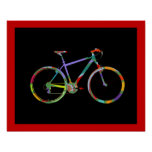 decoración de la impresión de las bicis de la bici posters