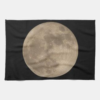 Decoración de la luna de la toalla de plato de la