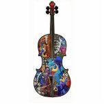 Decoración de la música, violoncelo de acrílico de fotoescultura vertical