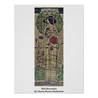 Decoración de la pared de Charles Rennie Mackintos Poster
