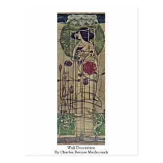 Decoración de la pared de Charles Rennie Mackintos Tarjeta Postal