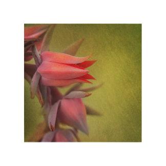 Decoración de la pared de la flor impresión en madera