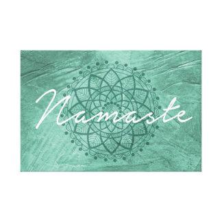 Decoración de la pared de la lona de Namaste Impresión En Lienzo Estirada