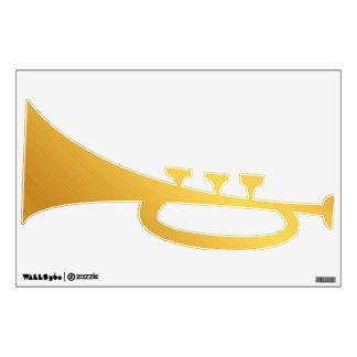 Decoración de la pared de la trompeta del oro vinilo decorativo
