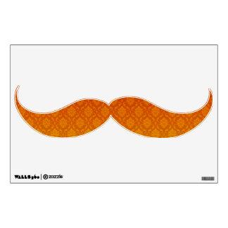 Decoración de la pared del bigote del damasco vinilo decorativo