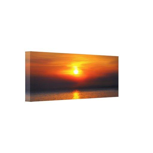 decoración de la puesta del sol impresión en lienzo estirada