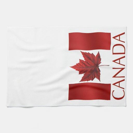 Decoración de la toalla de té de Canadá de la