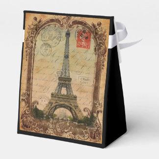 decoración de la torre Eiffel del vintage del Cajas Para Detalles De Boda