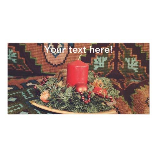 Decoración de la vela tarjetas con fotos personalizadas