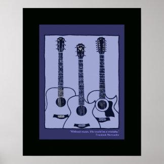 decoración de las guitarras acústicas impresiones