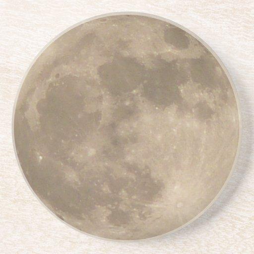 Decoración de los regalos de la Luna Llena de la a Posavasos Personalizados