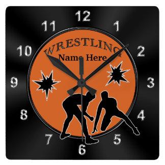 Decoración de lucha personalizada del dormitorio, reloj cuadrado