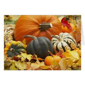 Decoración de octubre tarjeta de felicitación