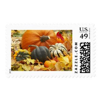 Decoración de octubre timbre postal