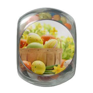 Decoración de Pascua con los huevos Jarrones De Cristal