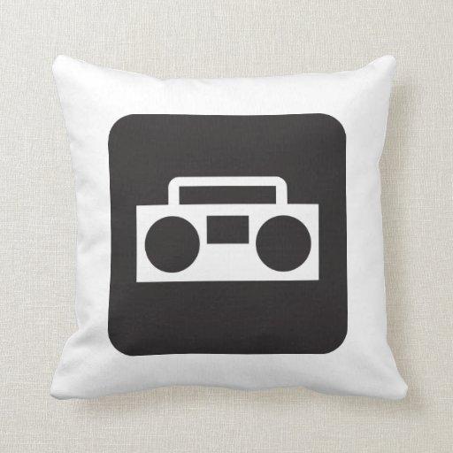 Decoración de radio de la almohada de tiro de los