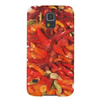 Decoración de Ristra de las pimientas de chile Carcasa Galaxy S5