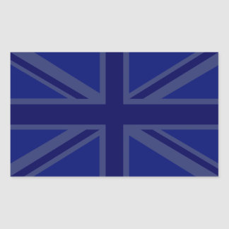 Decoración de Union Jack de los azules marinos Pegatina Rectangular