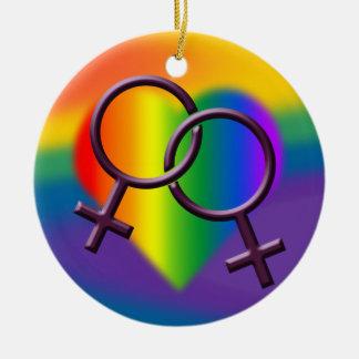 Decoración del amor de las mujeres gay del ornamen ornamento para reyes magos