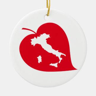 Decoración del árbol de navidad de ItalianSide Adorno Redondo De Cerámica