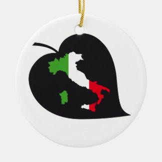 Decoración del árbol de navidad de ItalianSide Adorno Navideño Redondo De Cerámica
