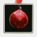 Decoración del árbol de Navidad de la plantilla de Adorno Cuadrado Plateado
