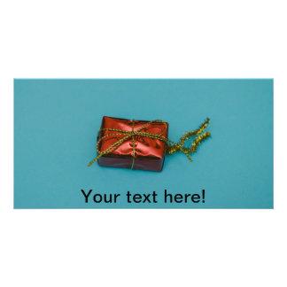 Decoración del árbol del regalo del navidad tarjetas fotográficas personalizadas