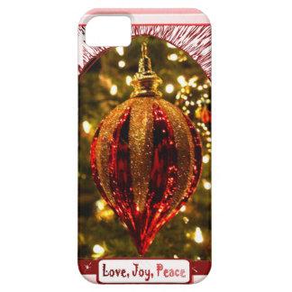 Decoración del árbol, paz de la alegría del amor funda para iPhone SE/5/5s