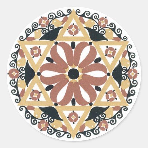 Decoración del art déco (6) pegatina redonda