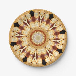 Decoración del arte de las placas de papel del plato de papel de 7 pulgadas