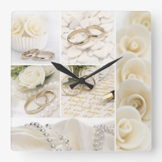 decoración del boda reloj cuadrado