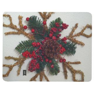 Decoración del cono del pino del navidad cuadernos grapados
