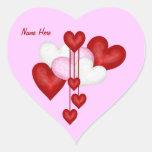 Decoración del corazón calcomanía de corazón personalizadas