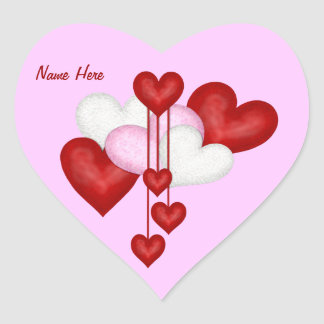 Decoración del corazón pegatina en forma de corazón
