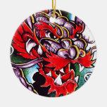 Decoración del cráneo ornamento para arbol de navidad
