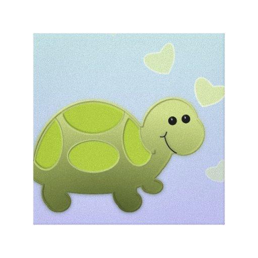 Decoración del cuarto de niños de la tortuga de Li Impresion En Lona