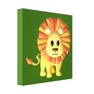 Decoración del cuarto de niños del león del bebé lona envuelta para galerías