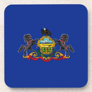 Decoración del diseño de la bandera del estado de posavasos de bebida