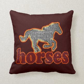 decoración del estilo de la granja de los caballos almohadas