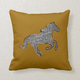 decoración del estilo de la granja del caballo cojines