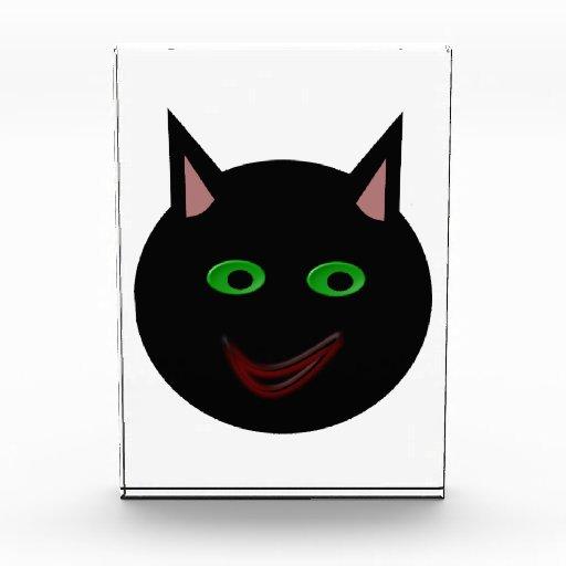 Decoración del gato negro de Halloween