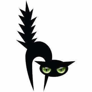 Decoración del gato negro de Halloween Esculturas Fotográficas