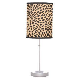 Decoración del guepardo de la piel lámpara de mesa